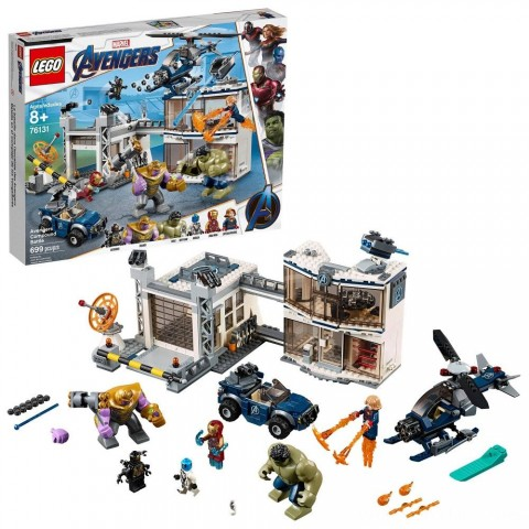 LEGO Marvel Avengers Compound Battle Collectibles Building Set with Superhero Minifigures 76131 Free Shipping