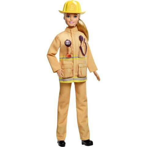 Barbie Careers 60th Anniversary Firefighter Doll Free Shipping