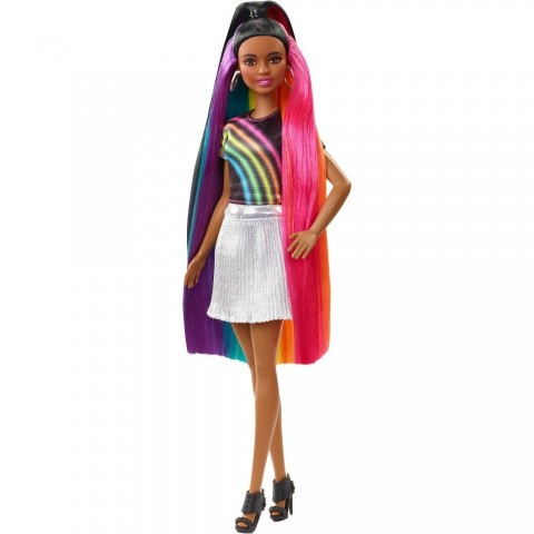 Barbie Rainbow Sparkle Hair Nikki Doll Free Shipping