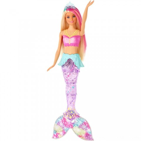 Barbie Dreamtopia Sparkle Lights Mermaid Free Shipping