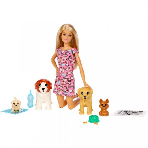 Barbie Doggy Daycare Doll & Pets Free Shipping