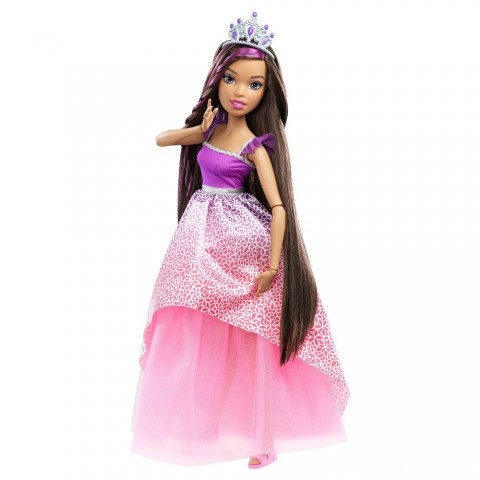 "Barbie Dreamtopia Princess 17"" Nikki Doll Free Shipping"