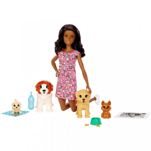 Barbie Doggy Daycare Nikki Doll & Pet Free Shipping
