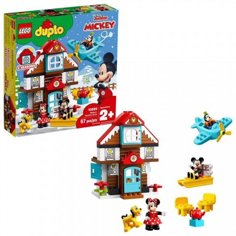 LEGO DUPLO Disney Mickey's Vacation House 10889 Toddler Building Set with Minnie Mouse Free Shipping