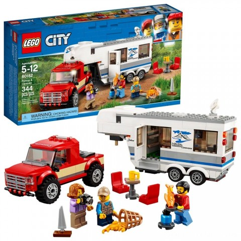 Black Friday 2020 Sale LEGO City Great Vehicles Pickup & Caravan 60182 Free Shipping