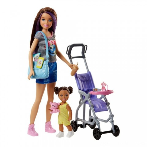 Barbie Skipper Babysitters Inc. Doll and Stroller Playset Free Shipping