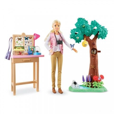 Barbie National Geographic Butterfly Scientist Playset Free Shipping