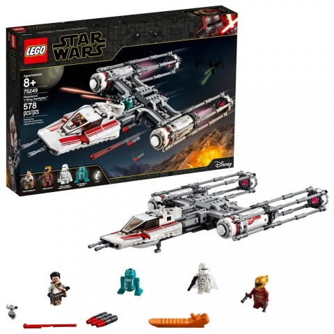 LEGO Star Wars: The Rise of Skywalker Resistance Y-Wing Starfighter 75249 New Advanced Collectible Starship Model Building Kit 578pc Free Shipping