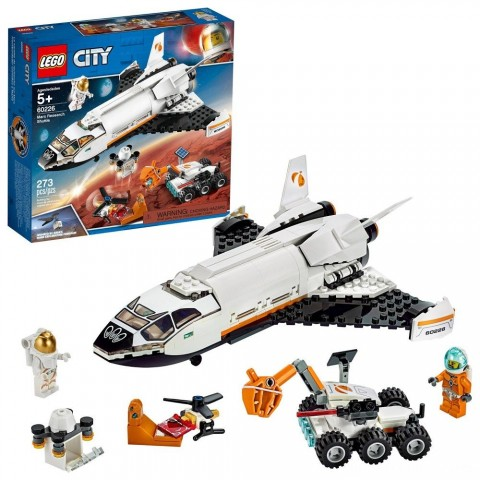 LEGO City Space Mars Research Shuttle 60226 Space Shuttle Toy Building Kit with Mars Rover Free Shipping