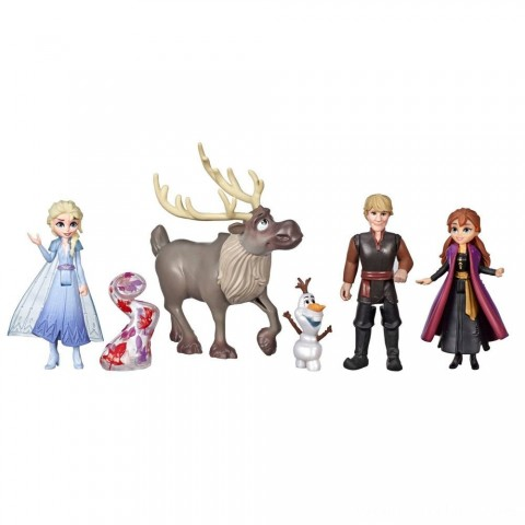 Disney Frozen 2 Adventure Collection, 5 Small Dolls from Frozen 2 Free Shipping