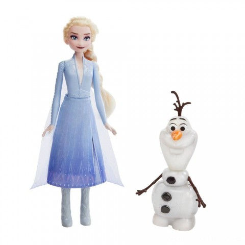 Disney Frozen 2 Talk and Glow Olaf and Elsa Dolls Free Shipping