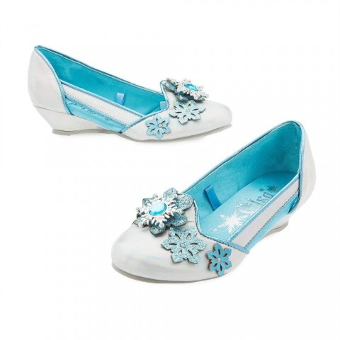 Disney Frozen 2 Elsa Kids' Dress-Up Shoes - Size 13-1, Blue Free Shipping