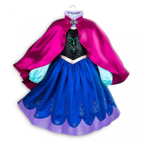 Disney Frozen 2 Anna Kids' Dress - Size 5-6 - Disney store, Girl's, Blue Free Shipping
