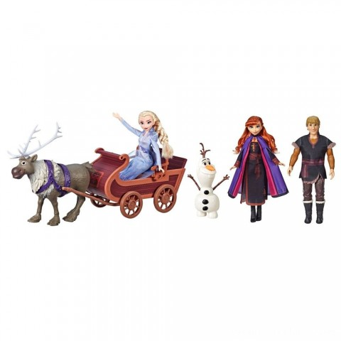 Disney Frozen 2 Sledding Adventures Doll Pack Free Shipping