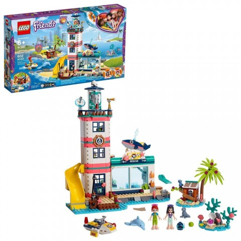 LEGO Friends Lighthouse Rescue Center 41380 Building Kit with Mini Dolls and Toy Animals 602pc Free Shipping