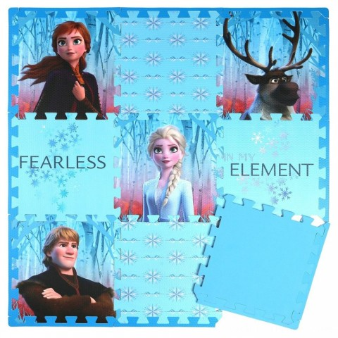 Disney Frozen 2 9pc Tile Foam Interlocking Fitness Mats Free Shipping
