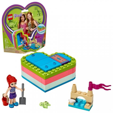 LEGO Friends Mia's Summer Heart Box 41388 Building Kit with Turtle Figure and Mia Mini Doll 85pc Free Shipping