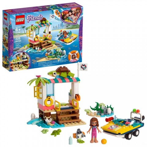 Black Friday 2020 Sale LEGO Friends Turtles Rescue Mission 41376 Building Kit Includes Toy Vehicle and Clinic 225pc Free Shipping