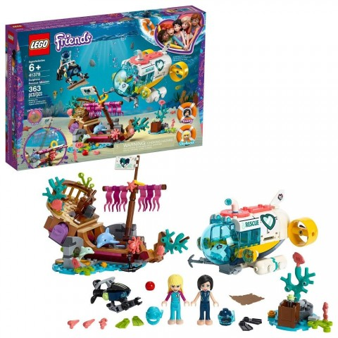 Black Friday 2020 Sale LEGO Friends Dolphins Rescue Mission 41378 Sea Life Building Kit with Toy Submarine and Sea Creatures Free Shipping