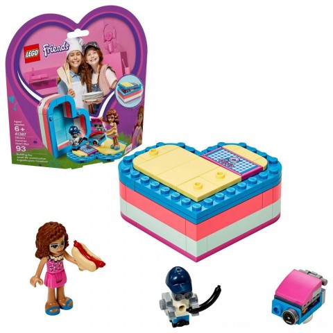 LEGO Friends Olivia's Summer Heart Box 41387 Portable Toy Mini Doll 93pc Free Shipping