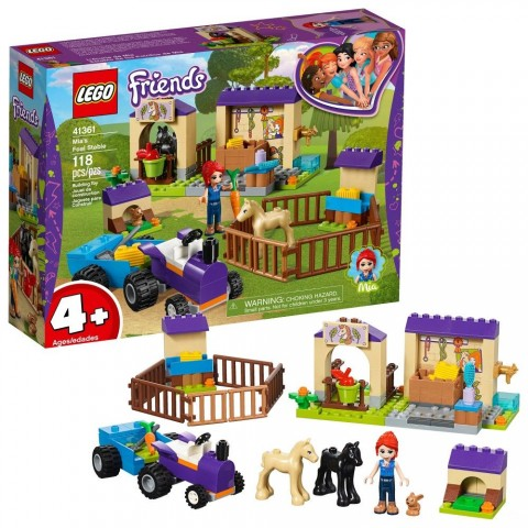 LEGO Friends Mia's Foal Stable 41361 Free Shipping