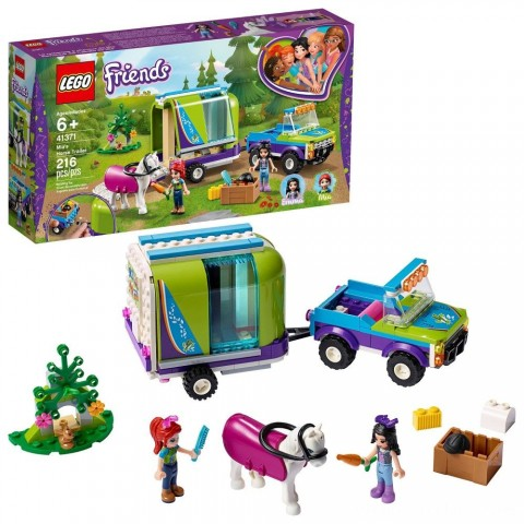 Black Friday 2020 Sale LEGO Friends Mia's Horse Trailer 41371 Building Kit with Mia and Stephanie Mini Dolls 216pc Free Shipping