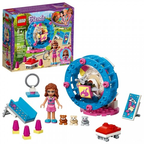 LEGO Friends Olivia's Hamster Playground 41383 Free Shipping
