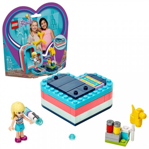 LEGO Friends Stephanie's Summer Heart Box 41386 Portable Toy Building Set, Stephanie Mini Doll 95pc Free Shipping