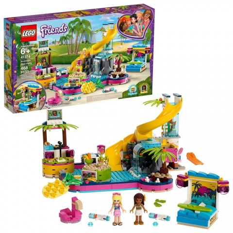 Black Friday 2020 Sale LEGO Friends Andrea's Pool Party 41374 Toy Pool Building Set with Mini Dolls for Pretend Play Free Shipping