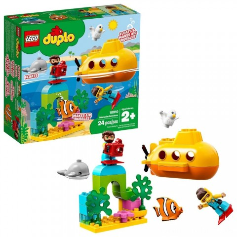 LEGO DUPLO Submarine Adventure 10910 Bath Toy Building Set for Toddlers with Toy Submarine 24pc Free Shipping