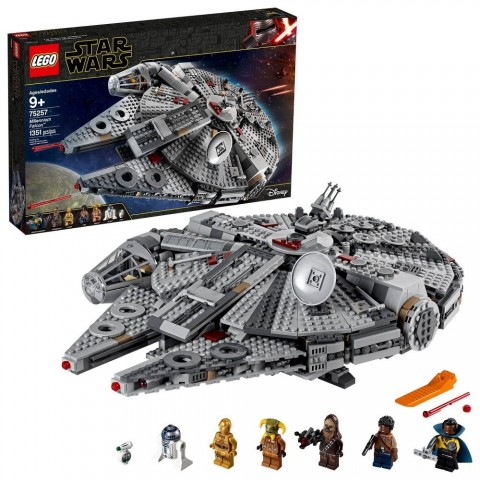 LEGO Star Wars: The Rise of Skywalker Millennium Falcon Building Kit Starship Model with Minifigures 75257 Free Shipping