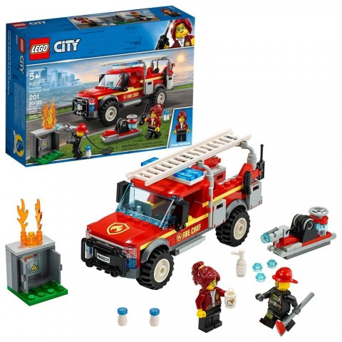 LEGO City Fire Chief Response Truck 60231 Building Set with Toy Firetruck and Ladder 201pc Free Shipping