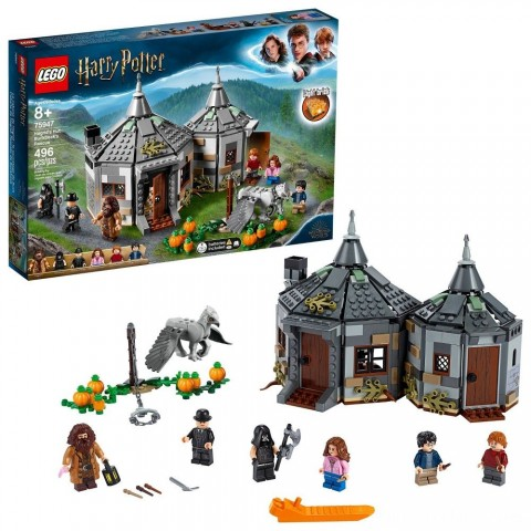 LEGO Harry Potter Hagrid's Hut: Buckbeak's Rescue Building Set with Hippogriff Figure 75947 Free Shipping