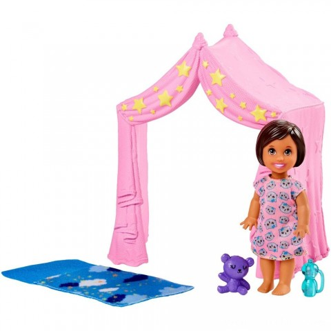 Barbie Skipper Babysitter Inc. Doll & Sleepover Playset Free Shipping