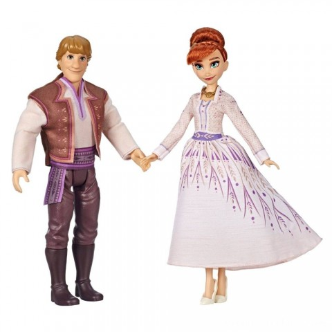 Disney Frozen 2 Anna and Kristoff Fashion Dolls 2pk Free Shipping