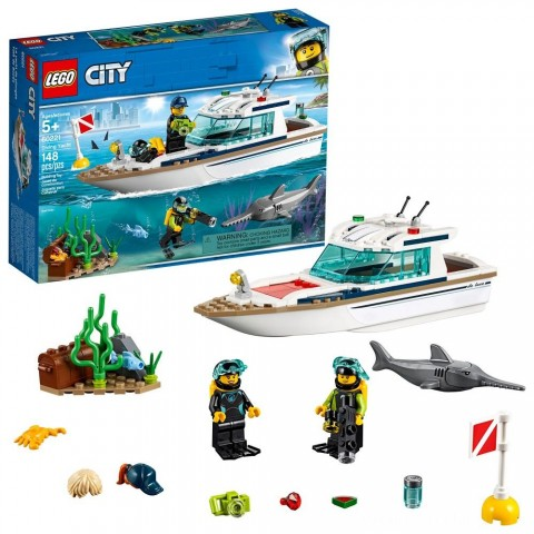 Black Friday 2020 Sale LEGO City Diving Yacht 60221 Free Shipping
