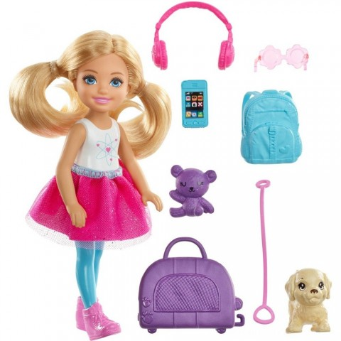 Barbie Chelsea Travel Doll Free Shipping