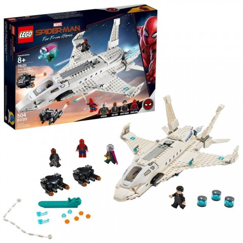 LEGO Super Heroes Marvel Spider-Man Stark Jet and the Drone Attack 76130 Free Shipping