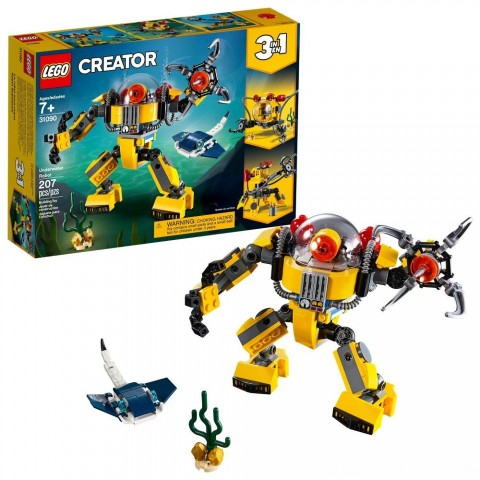 Black Friday 2020 Sale LEGO Creator Underwater Robot 31090 Free Shipping
