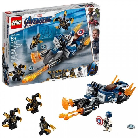 LEGO Super Heroes Marvel Avengers Movie 4 Captain America: Outriders Attack 76123 Free Shipping