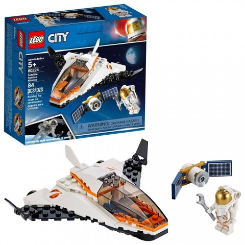 Black Friday 2020 Sale LEGO City Space Satellite Service Mission 60224 Space Shuttle Toy Building Set 84pc Free Shipping