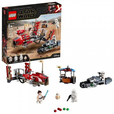 LEGO Star Wars: The Rise of Skywalker Pasaana Speeder Chase 75250 Hovering Transport Speeder Building Kit with Action Figures 373pc Free Shipping