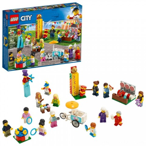 LEGO City People Pack - Fun Fair 60234 Toy Fair Building Set with Ice Cream Cart 183pc Free Shipping