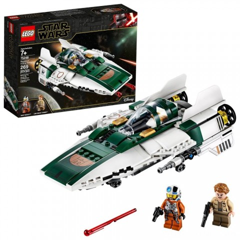 LEGO Star Wars: The Rise of Skywalker Resistance A-Wing Starfighter 75248 Advanced Collectible Starship Model Building Kit 269pc Free Shipping
