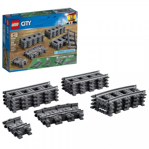 LEGO City Trains Tracks 60205 Free Shipping