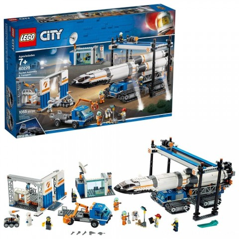Black Friday 2020 Sale LEGO City Space Rocket Assembly & Transport 60229 Model Rocket Building Set with Toy Crane 1055pc Free Shipping