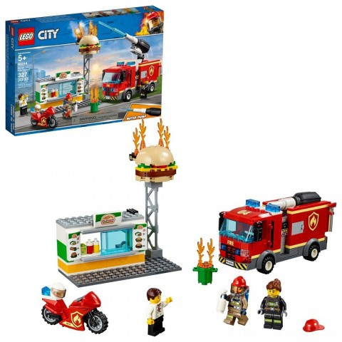 LEGO City Burger Bar Fire Rescue 60214 Free Shipping