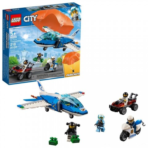 Black Friday 2020 Sale LEGO City Sky Police Parachute Arrest 60208 Free Shipping