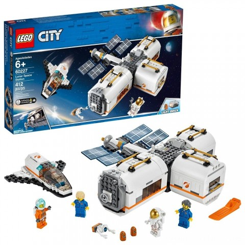 LEGO City Space Lunar Space Station 60227 Space Station Building Set with Toy Shuttle Free Shipping