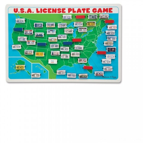 Melissa & Doug Flip to Win Travel License Plate Game, Kids Unisex Free Shipping